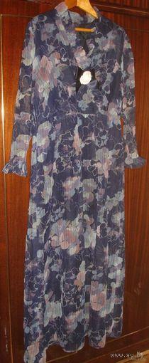 Длинное платье для особого торжества 80-е гг р-р 54 Германия