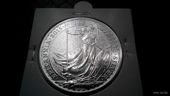 2 фунта Великобритании 2015 года - унция чистейшего серебра!