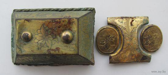 Пряга и элемент шляхецкого/пшерворского пояса.16-17 век,С РУБЛЯ