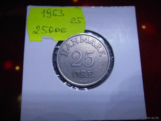 Дания 25 эре оре 1953