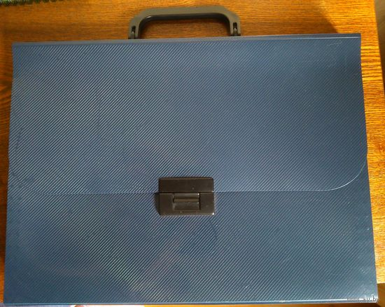 Папка-портфель тёмно-синяя