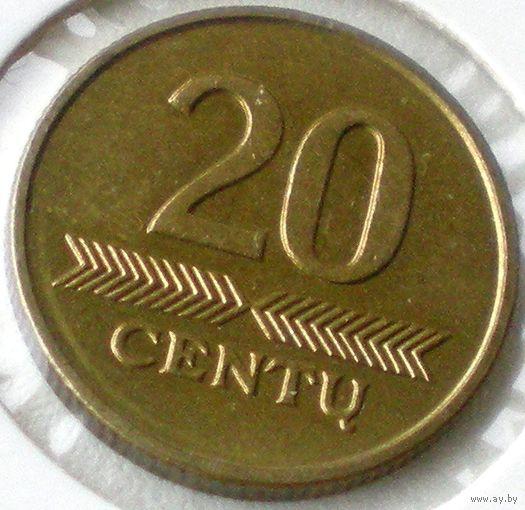 Летува (Lietuva), 20 центов 1997 года