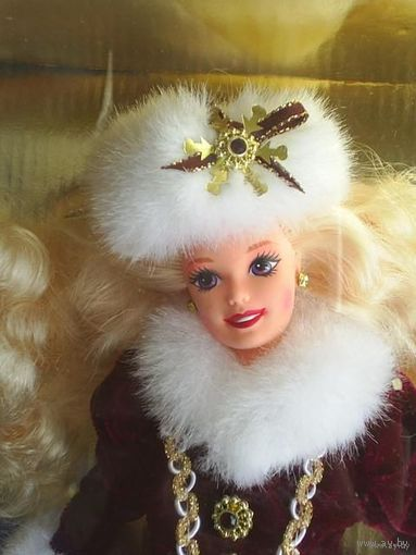 Кукла Барби_Barbie Happy Holidays + ornament_1995_год_Коллекц ионный выпуск_Серия Happy Holidays _НОВАЯ_В упаковке!