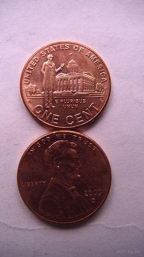 Коллекция = Один / 1 / цент США, Профессиональная жизнь Линкольна.(Третья монета) Цент 2009 года в честь 200-летия Линкольна cостояние  распродажа