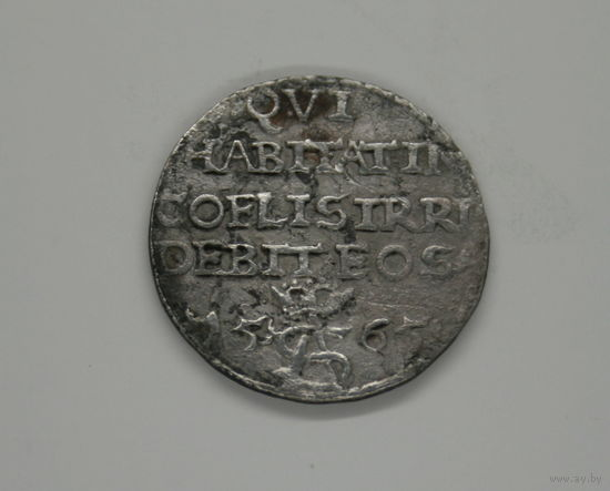 Живущий на небесах посмеется   , ироничный трояк , 1565 год , три гроша