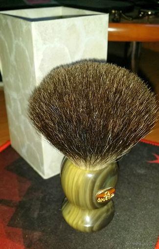 Помазок Omega из волос черного барсука