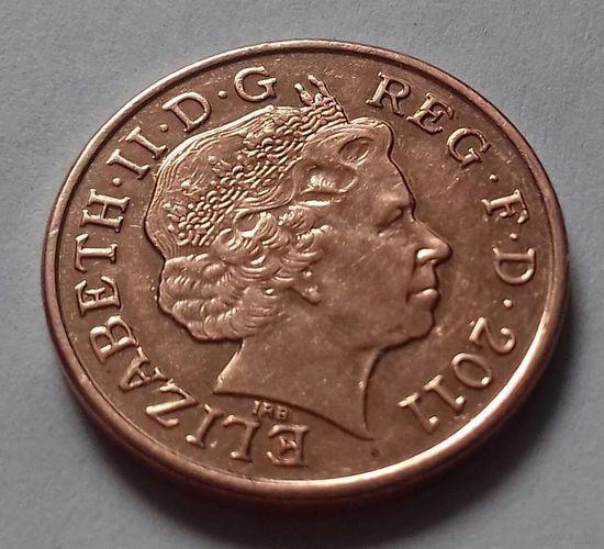 1 пенни, Великобритания 2011 г., AU