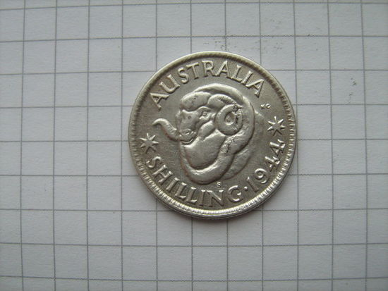 Австралия 1шиллинг 1944г.