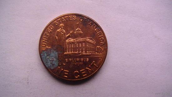 Коллекция = Один / 1 / цент США, Профессиональная жизнь Линкольна.(Третья монета) Цент 2009 года в честь 200-летия Линкольна No1