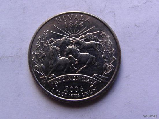 США 25 центов 2006г  NEVADA  распродажа