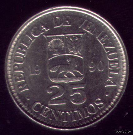 25 сентимос 1990 год Венесуэла