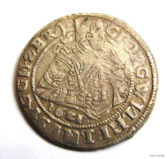 Орт 1621 Кенигсберг Пруссия редкий дата под портретом.