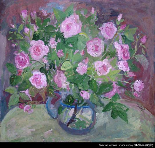 Розы.(холст,масло)