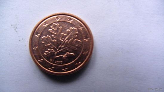 Германия 1 цент 2002г. G  распродажа