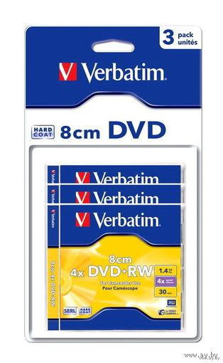 Verbatim DVD+RW 1,4GB 4x 8 cm (3 шт. в заводской упаковке)