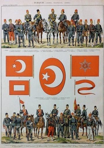 КАРТА  ФОРМА ФЛАГИ  19-20в.     EMPIRE TURC     TURQUIE