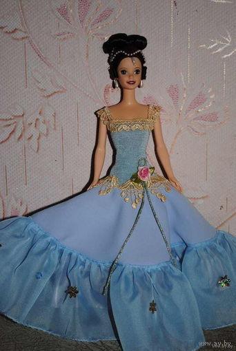 """Продам новое ПЛАТЬЕ для куклы Барби: """"КНЯГИНЯ"""" - машинный самошив, сидит весьма аккуратно. Сама кукла, как и её головной убор в стоимость не входят. Пересыл по почте платный!"""