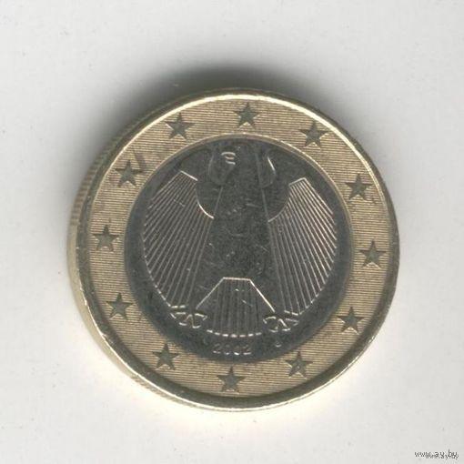 Германия 1 Евро J 2002г.    распродажа
