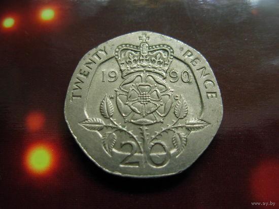 Великобритания 20 пенсов 1990