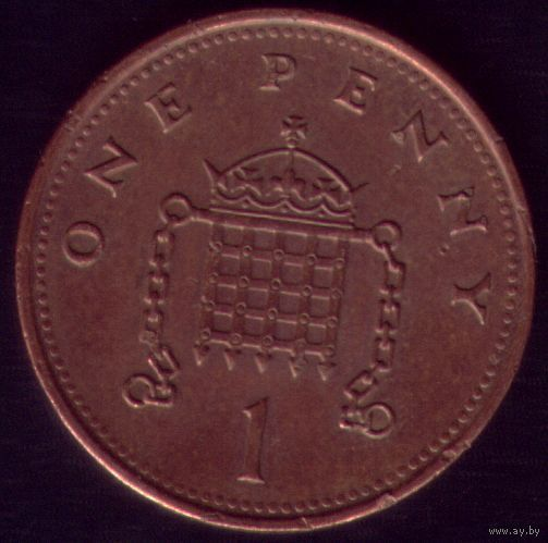 1 пенни 2000 год Великобритания