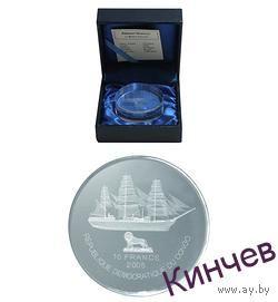10 франков 2005 г. Конго-Корабль Америго Веспуччи