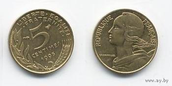 Франция 5 сантимов 1995г. распродажа