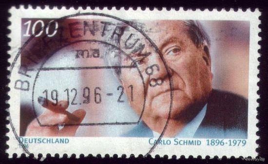 1 марка 1996 год Германия Шмидт