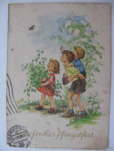Открытка ГДР  1960