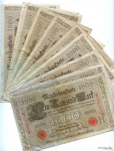 Германия 1000 МАРОК 1910г.  распродажа