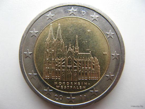 Германия 2 евро 2011г. (F) Федеральные земли Германии - Кёльнский собор, Северный Рейн-Вестфалия. (юбилейная)