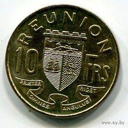 РЕЮНЬОН - 10 ФРАНКОВ 1964 !!!