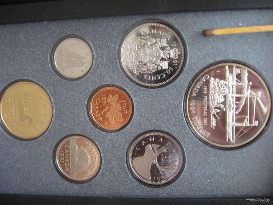 Набор монет от 1 цента до 1 доллар 1991.