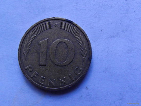 10 пфеннигов 1991 г. G Германия  распродажа