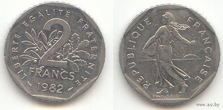 2 франка 1983г.  распродажа