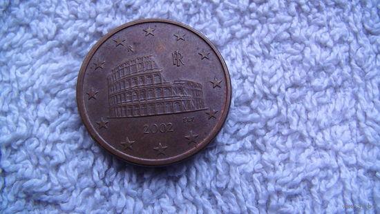 Италия 5 евроцентов  2002г.  распродажа