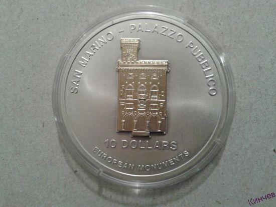 10 долларов Науру 2005 год-Сан-Марино. Серебро