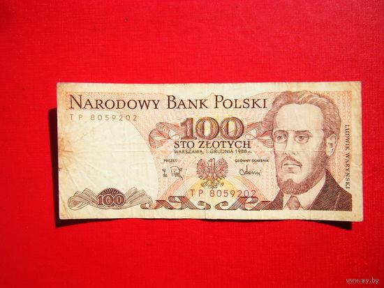 100 злотых 1988г.
