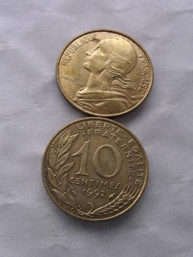 Франция 10 сантимов 1991г. распродажа