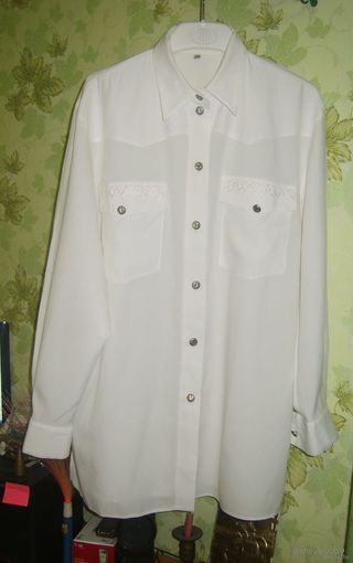 Рубашка белая р.46-48