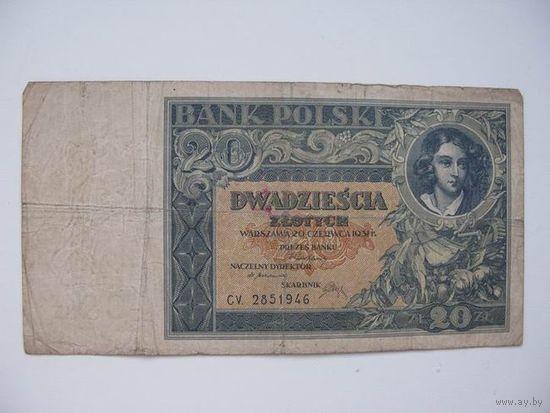 Польша  20 зл 1931