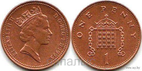 Великобритания 1 penny 1995