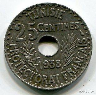 ТУНИС - 25 САНТИМ 1938