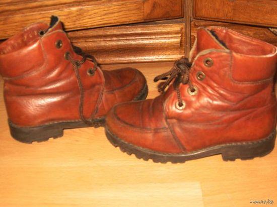 Ботинки осенние 28 р-р кожа Италия