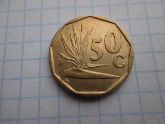 ЮЖНАЯ АФРИКА 50 ЦЕНТОВ 1991 ГОД