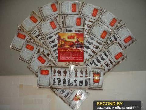 """Полный комплект вкладышей (14 шт к каждой фигурке + 1 призовой) к серии металлических солдатиков """"Древний Рим"""""""