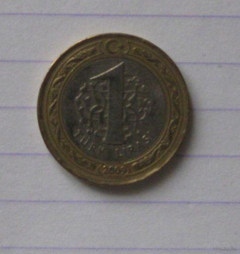 1 лира, Турция, 2009 г.