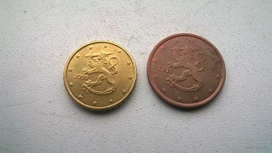 Финляндия пара монет евро центов
