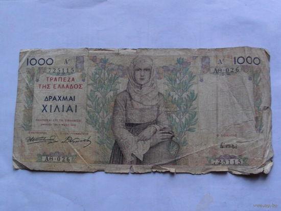 Греция 1000 драхм 1935г    редкая    распродажа