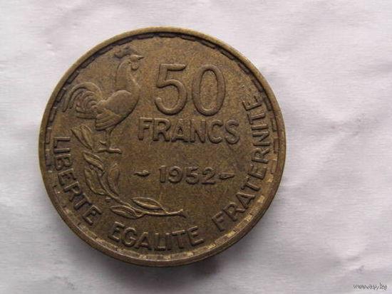 50 франков Франция 1952 г.в. с петухом   распродажа