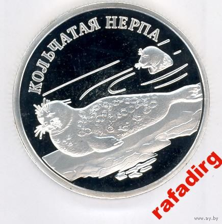 1 рубль 2007 года Кольчатая Нерпа